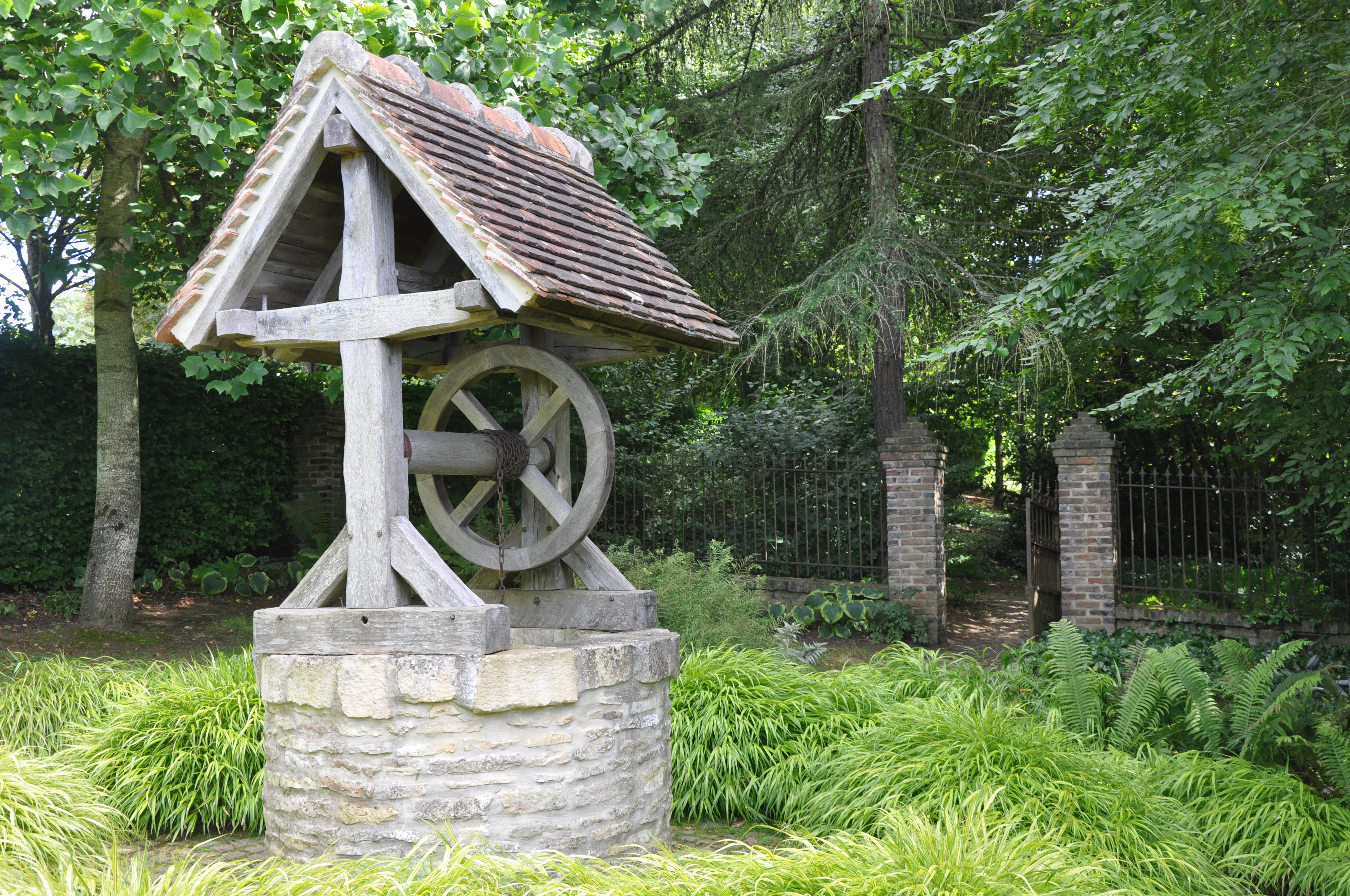 Water well in garden of Cambremer France